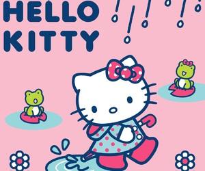 hello kitty and rain image
