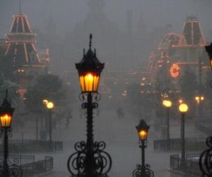 light, disneyland, and fog image