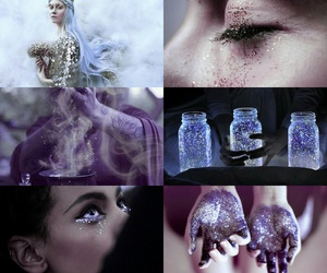 glitter, beauty, and witch image