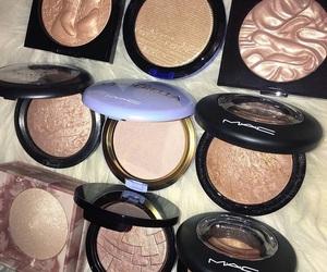 makeup, highlighter, and mac image