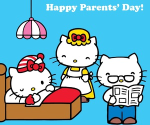 hello kitty, parents, and george white image