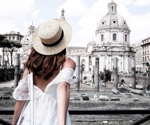 travel, girl, and white image
