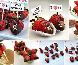 diy, ladybugs, and strawberry image