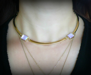 choker, gold necklace, and jewelry image