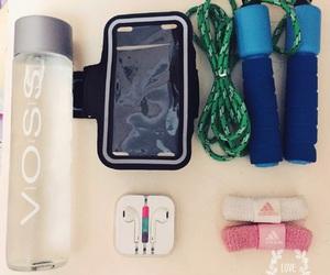 earphones, healthy, and fitness image