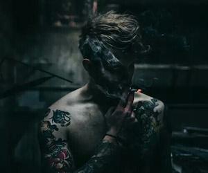 boy, smoke, and tattoo image