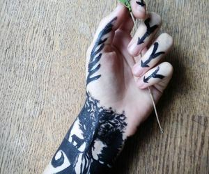 bodypaint, drawing, and emo image