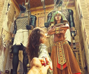 egypt, travel, and couple image