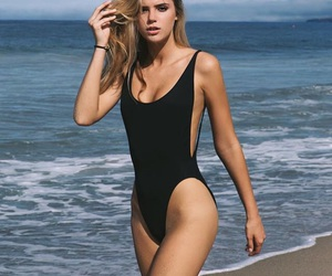 beach, alissa violet, and model image