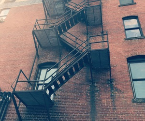 building, fire escape, and grunge image