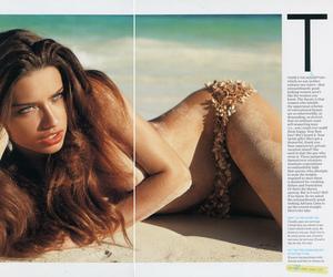 Adriana Lima, model, and beach image