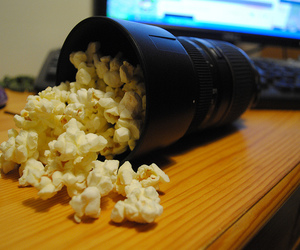 close, objective, and popcorn image