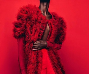red, fashion, and model image