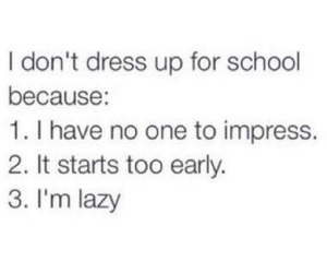 school and Lazy image
