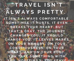 travel, quotes, and journey image