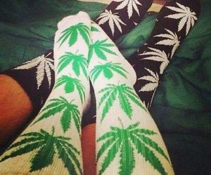 socks, black, and green image