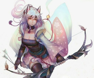 chat, fille, and manga image