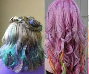 cheveux, girl, and color image