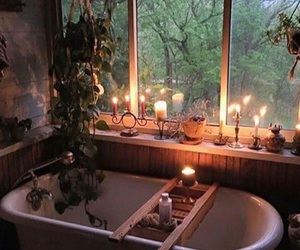 candle, bath, and bathroom image