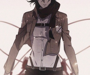 anime, attack on titan, and mikasa image