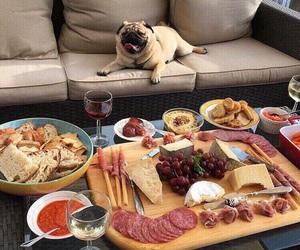 food, dog, and pug image
