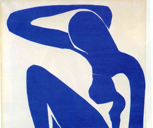 art, blue, and matisse image