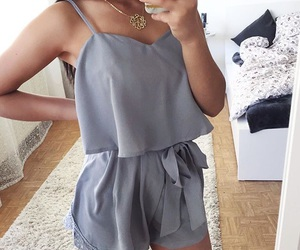 clothes, hairstyle, and iphone image