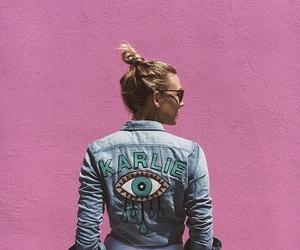 Karlie Kloss, model, and pink image
