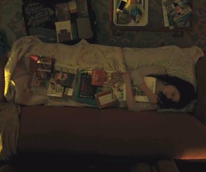 bed, books, and Claire image