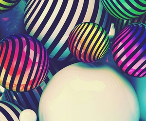 art, balloons, and color image