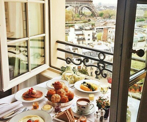 food, breakfast, and paris image