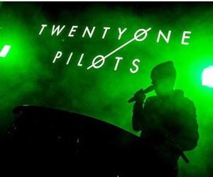 green, twenty one pilots, and band image