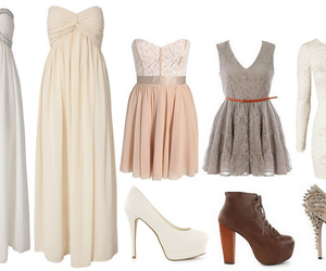 Collage, dresses, and grey image