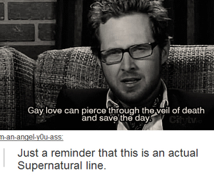 supernatural, funny, and gay image