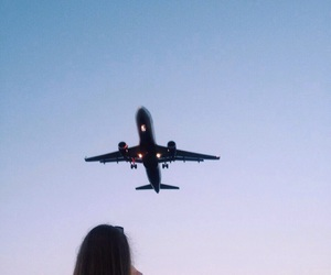 airplane, airport, and fly image