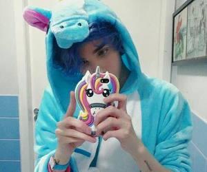 unicorn and boy image