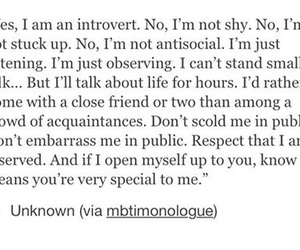 antisocial, introvert, and quotes image