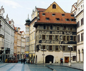 old town square, prague, and czech public image