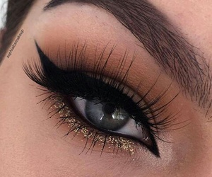 makeup, boy, and eyes image