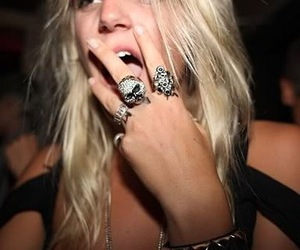 girl, rings, and blonde image