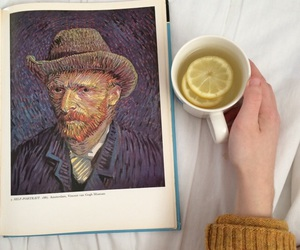 tea, art, and van gogh image