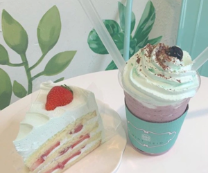 aesthetic, cake, and drinks image