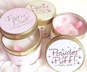 candle, fairy dust, and powder puff image