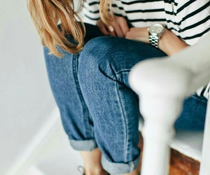 chic, fashion, and stripes image