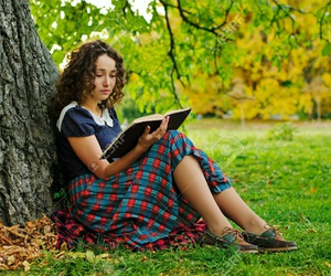 fantasy, girl, and reading image