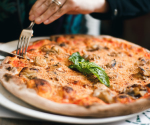 food, pizza, and photography image