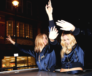 margot robbie and cara delevingne image