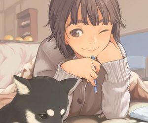 anime, draw, and fall image