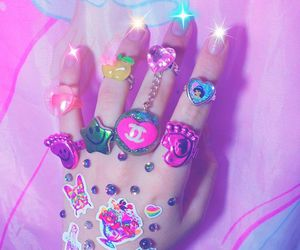 pink, nails, and sticker image
