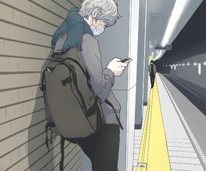 animation, station, and subway image